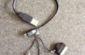 4-en-1 cable USB a mini • micro • relámpago • conector de 30 pines
