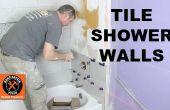Cómo instalar azulejos de una pared de la ducha y... Y cortar azulejos como un profesional!!!!