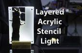 Lámpara de escritorio plantilla de acrílico de múltiples capas