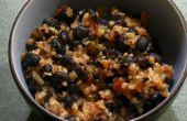 Picante negro frijoles y trigo Bulgur