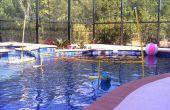 DIY Net de voleibol de piscina flotante