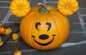 Hacer una calabaza de Mickey Mouse este Halloween