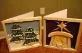 ¿Tarjetas de Navidad de madera de balsa
