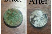 Eliminación de corrosión en monedas antiguas / pequeños objetos de metal