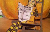 Arte fácil... Casa de juguete de calabaza solo materiales reciclados