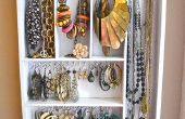 Organizador de joyas del utensilio colgante