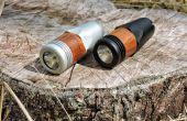 Linterna resistente con acento de madera