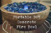Tazón de fuente de fuego concreto DIY portable
