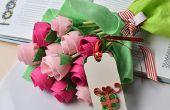 Regalo día de la madre – cómo hacer un ramo de flores de fieltro