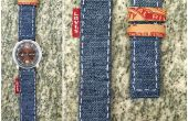 Correa de reloj DIY del dril de algodón