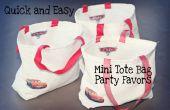 Cómo coser rápido y fácil partido Favor Mini bolsas