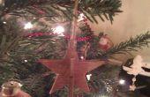 3D decoración colgante de estrella de madera