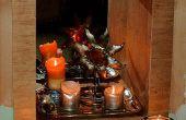 Convertir una chimenea sin uso en un rincón de la vela.