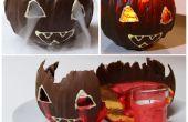 Jack O Lantern Chocolate calabaza Mousse de torta