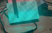 Frambuesa Pi LED pantalla de texto de desplazamiento
