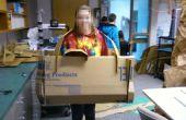 Colosal cartón cámara-Flat Pack construcción