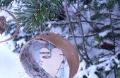 Corteza de abedul fácil árbol de Navidad adornos