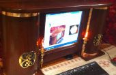 Steampunk computadora Monitor