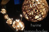 Pantallas de lámparas de bola de la guita