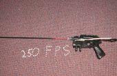 Pistola Nerf super modificado (en un airsoft pistola 250 fps)