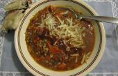 Sopa de lentejas y cebada