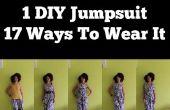 Como hacer un mono DIY, usa 17 formas | DIY ropa para viajar