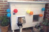 Casa gato accionado solar