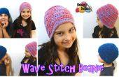 Ola puntadas Beanie – patrón Crochet gratis