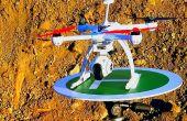 Drone / helicóptero de aterrizaje (el montaje del trípode)