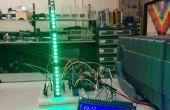 """Termómetro de interior con pantalla LCD y lectura de la """"Analogía"""" con NeoPixels"""