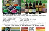 Hacer un pastel arco iris natural