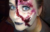 Cara de rasgado de Halloween