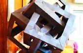 Puzzle de escultura de origami: 4 cubos intersección
