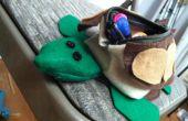 Cómo hacer una bolsa de lápiz de tortuga!!!