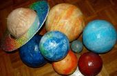 Papier Mache planetas