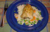 Pollo italiano y arroz cuece al horno