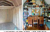 Cobertizo de madera en estudio de arte de Epic