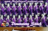 Dimensiones bufanda \ afgano – patrón Crochet gratis