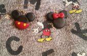 Mickey y Minnie Mouse pendientes