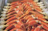 Asar a la parrilla camarones langostinos y patas de cangrejo de nieve