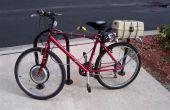 Bicicleta eléctrica (ebike) montaje del Kit de conversión - motor del eje, instalación del paquete del controlador y la batería