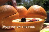 Muffins de naranja al fuego