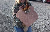 Ciervos trofeo mascota traje de montar