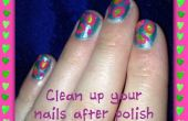 Limpie sus uñas después de pulido!