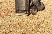 Un colector de hierba/hoja para el cortacéspedes de montar a caballo su