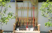 Rack de herramienta de jardín con Banco