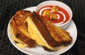 TORTA a la plancha queso y tomate sopa
