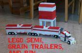 LEGO Semi remolques de grano y Bin