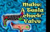 """Hacer: Un Tesla """"check"""" VALVULA Mod. de arcilla de la espuma!"""