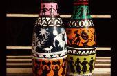 Botellas pintadas para la decoración del hogar